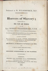 The Horrors Of Slavery -Title Page